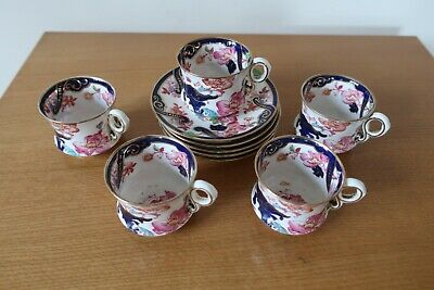 Vintage Royal Cauldon 5 Cups And Saucers Early 1910 • 7£