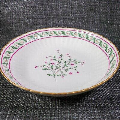 Early Crown Derby - C1810 - Shallow Fluted Bowl, Pink Flowers • 9£