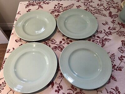 Woods Ware Beryl Green 10 Inch Dinner Plates X4  • 10£