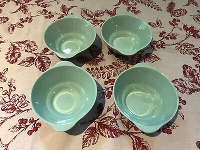 Woods Ware Beryl Green Double Handle Soup Bowl X4 • 9.50£
