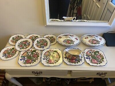 """Rare Lot Of Myott And Sons """"Peasantry"""" Dinner Items • 30£"""