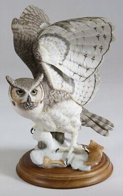 Franklin Mint - The Great Horned Owl - Porcelain Sculpture By George McMonigle • 95£