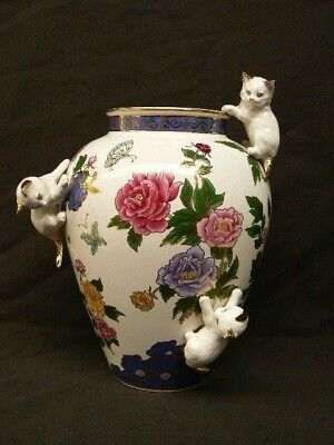 Franklin Mint - The Vase Of Imperial Cats - By Toshiharu Kitagawa • 95£