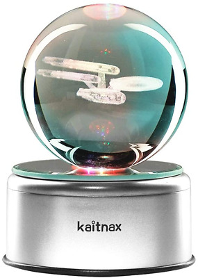 3D Cool Laser Etching Crystal Ball Night Light Gift Lamp For Kids Children Star • 45.94£