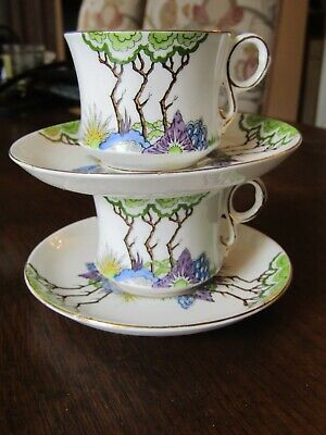 Pair Of Carlton Ware  Cabinet Cups And Saucers • 6£