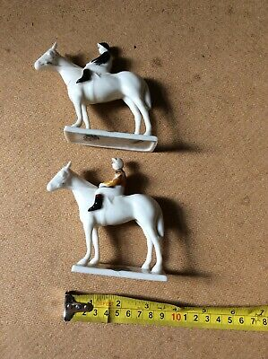 2 Carlton Crested China Horse&Jockey Figures Stamped Newmarket See. Description • 17.50£