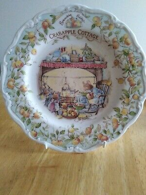 Royal Doulton Brambly Hedge Plate Crabapple Cottage Jill Barklam, USED • 20£