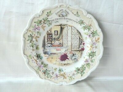 Royal Doulton Brambly Hedge Plate ' The Grand Bathroom '  Jill Barklem Great Lot • 12.99£
