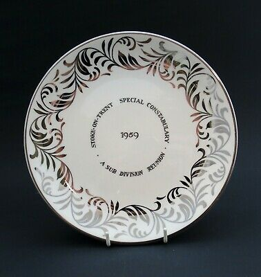 Rare 1959 Stoke-on-Trent Special Constabulary Police Reunion Plate Grays Pottery • 20£