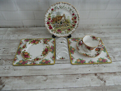Royal Albert  Breakfast Set Of Vintage Pottery - Some Old Country Roses • 16.99£