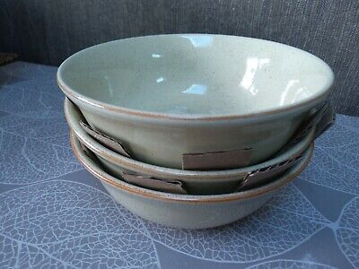 3 X Denby Daybreak 14.5 Cm Bowls (Excellent Condition) Look Unused • 20£