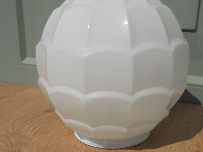 Art Deco Lamp Shade White Glass For Table Lamp • 12.50£