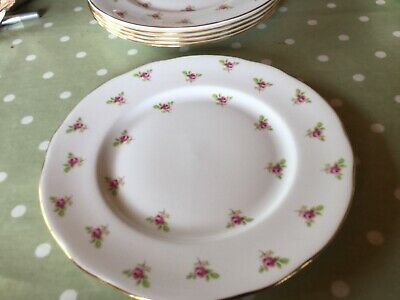 "Vintage Duchess,ditsy Rose Bone China Dinner 9.5"" Wide Pink Roses Patt (41) • 7.99£"
