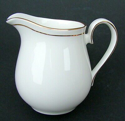 Queens China Gold On White Elegance Pattern 150ml Sm Cream Jug 8cmh Looks In VGC • 7.50£