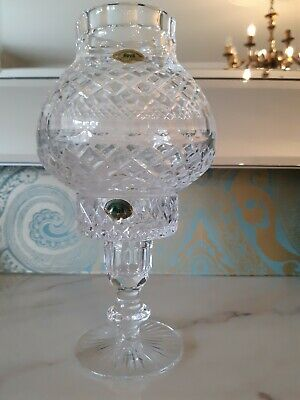 Tyrone Crystal Hurricane Tealight/candleholder With Globe Shade. Approx. 9.5   • 41.50£