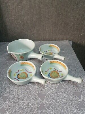 Buchan Stoneware Handled Dishes X 4 • 15£