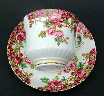 Royal Stafford 1980's Olde English Garden 200ml Tea Cups & Saucer - Looks In VGC • 7.50£