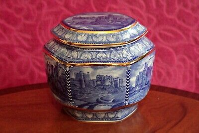Ringtons Blue And White Castle Design Tea Caddy Millenium 2000 By Wade • 30£