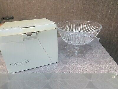 Lovely 24%lead Crystal Galawy Footed Bowl  • 10£