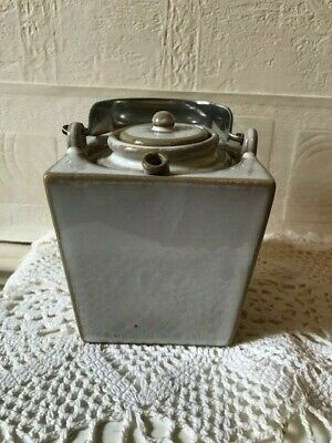Unusual Ceramic Sake Warmer Lidded Pot Within A Pot • 24£