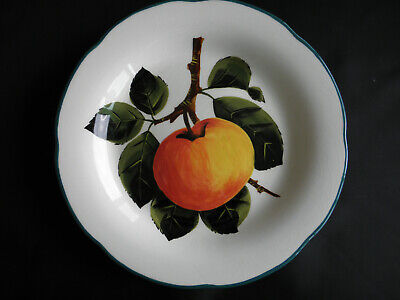 LOVELY RARE GRISELDA HILL POTTERY FRUIT APPLE PLATE ~ 215mm Diameter • 40£