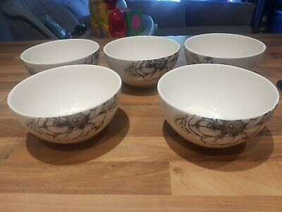 Marks And Spencer Etched Peony Bowls X 5 • 25£