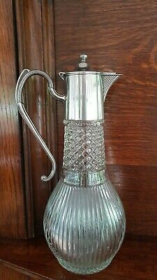 Claret Jug With Silver Plated Top • 15£