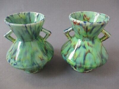 Pair Of Vintage / Antique Price Brothers Art Deco Vases Hyacinth Bulb Forcers  • 13.99£