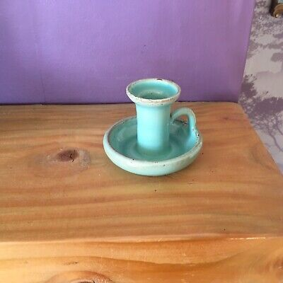 Dicker Ware Candlestick, Early 20th Century, Green  • 7£