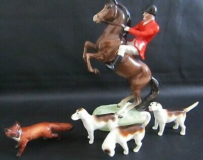 Vintage Beswick Rearing Huntsman With Fox & Hounds - Number 868  • 145£