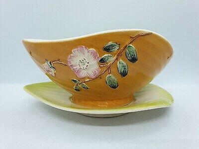 Shorter & Son Harmony Floral Sugar Bowl And Leaf Plate 1960's • 15£