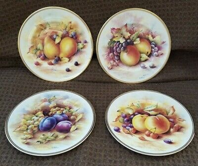CABINET PLATES D Wallace Fruit Cabinet Plates, Fenton Bone China X 4  • 24.99£