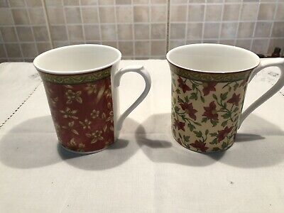 Pair Of Queens Mugs Kandy Ceylon Bone China • 4.99£