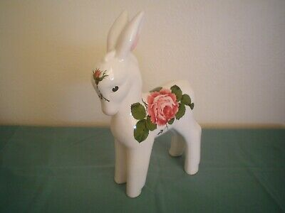 PLICHTA ROSE DECORATED HORSE. 11in Tall. • 40£