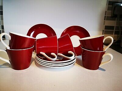 Royal Victoria Red And White Coffee Set • 17.99£