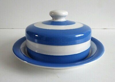 Vintage T.g. Green Cornishware Covered Cheese / Butter Dish Green Shield Mark • 1.20£