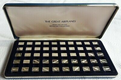 Franklin Mint Limited Edition - The Great Airplanes Sterling Silver Miniatures • 150£