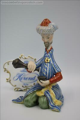 Superb Herend Porcelain Figurine Persian With Cup Figure New $1490 • 445£