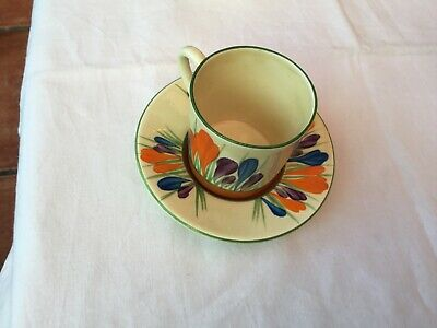 Bizarre By Clarice Cliff I Autumn Crocus Pattern Tea Cup And Saucer Miniature • 23£