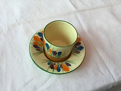 Bizarre By Clarice Cliff I Autumn Crocus Pattern Tea Cup And Saucer Miniature • 6.66£