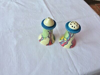 Bizarre By Clarice Cliff - Blue Autumn Pattern Pepper/salt Sifters  • 50£
