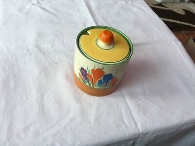 Clarice Cliff - Autumn Crocus Pattern Pattern Preserve Cylindrical Pot  • 49£