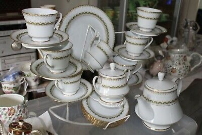 Noritake Katrina 22 Piece Tea Set VGC • 75£