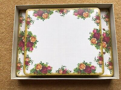 Royal Albert Old Country Roses Melamine Table Mats And Serving Mats • 8£
