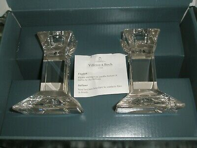 Villeroy And Boch Pisa Set Of Glass Candlesticks With Box • 15£