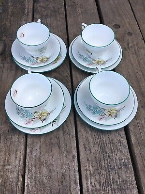Sutherland Bone China Cup, Saucer & Plate Set. Ideal For Vintage Wedding, Party • 4£