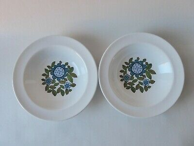 Vintage J & G Meakin Studio Retro 'topic'  2 X Dessert Bowls Dishes Great Lot  • 7.99£