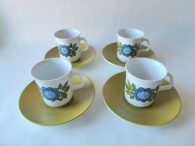 Vintage J & G Meakin Studio Retro 'topic'  4 X Coffee Cups & Saucers Great Lot  • 9.99£