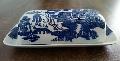 Churchill Blue Willow Butter Dish With Lid • 14.99£