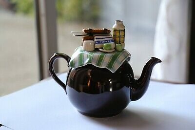 Large Cardew Collectable Betty Brown Summer Picnic Novelty Teapot • 36.99£